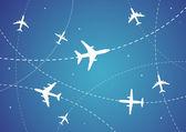 Itinéraires de l'avion — Vecteur