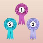 Award Ribbons — Stock Vector