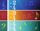 Music Banners — Stock Vector