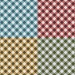 Tablecloth Gingham Seamless Pattern - Stock Photo