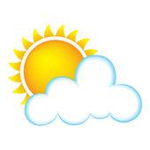 Słoneczny z chmury — Wektor stockowy