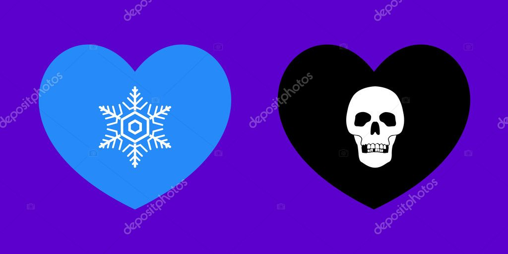 Vector Illustrations of Heart Related Metaphors — Stock Vector #9191216