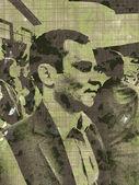 Człowiek w tłumie — Zdjęcie stockowe