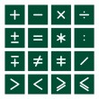 Math Icon Set 2 — Stock Vector
