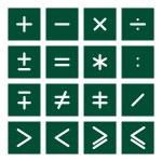Math Icon Set 2 — Stock Vector