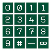Icono de matemáticas set 1 — Vector de stock