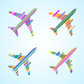 Airplanes — Stock Vector