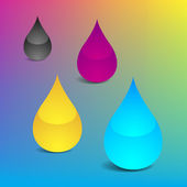 Inkjet Ink Drops — Stock Photo
