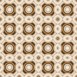 Geometric Retro Wallpaper Seamless Pattern - Stock Photo