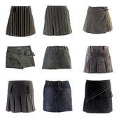 Mini skirts isolated on white background — Stock Photo