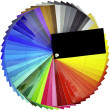 Color swatch sampler — Stockfoto