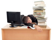 Sleeping at Work — Stock Photo