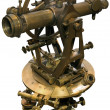 Old theodolite tacheometer cutout — Stock Photo