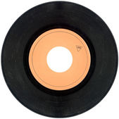 45rpm Vinyl record cutout — Stock Photo