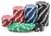 Poker fişleri — Stok fotoğraf