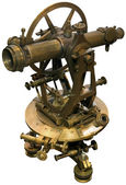 Old theodolite tacheometer cutout — Stockfoto