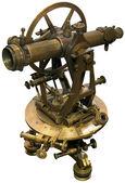 Recorte de taqueómetros antigo teodolito — Foto Stock