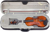 Violin in the box cutout — Stock Photo