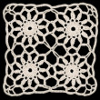 Stock Photo: Doily square ornament