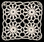 Ornamento cuadrado de servilleta — Foto de Stock