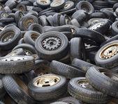 Wheels on dump — Stock Photo