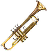 Trumpet cutout — Stock Photo