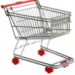 Shopping trolley cutout — Stock Photo #9270400