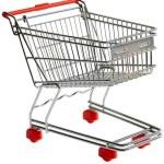 Shopping trolley cutout — Stock Photo