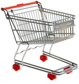 Shopping trolley cutout — Stockfoto