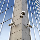 Security cameras on the wall — Stock Photo