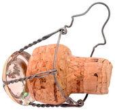Champagne cork cutout — Stock Photo