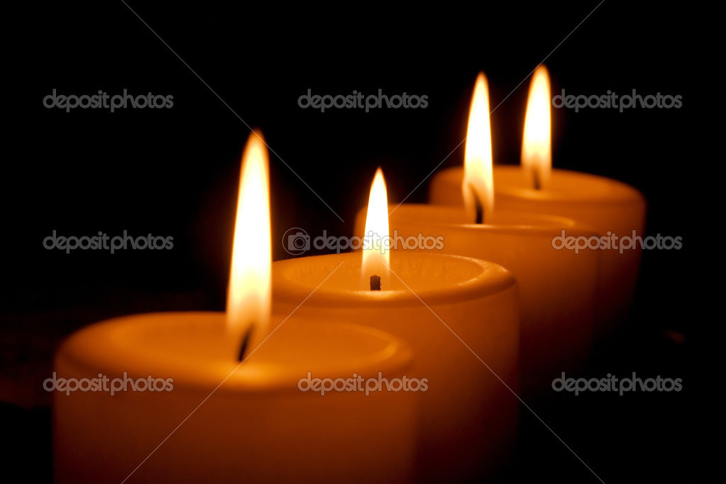 Four burning candles — Stock Photo #9399247