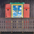 Wooden chalet balcony — Stock Photo