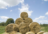 Hay pyramid — Stock Photo