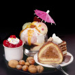 Cakes and ice-cream — Foto Stock