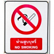 The Sign of no smoking isolated on white background — Stock Photo #10227544