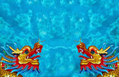 The Dragon status isolated on blue sky background — Stock Photo