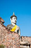The Buddha status of wat yaichaimongkon at ayuttaya province,Tha — Foto de Stock