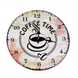 The Clock of coffee time isolated on white background — Stock Photo