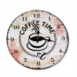 Royalty-Free Stock Photo: The Clock of coffee time isolated on white background