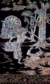 The Buried pearl of thai art on wood — Стоковое фото