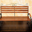 The Old wooden bench — Stock Photo