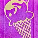 The Painting of icecream on iron sheet — Stock Photo #10482685