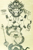 The Brahma hindu god — Stock Photo