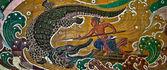 Łowca krokodyli rzeźby rodzimych tajskim stylu. to tr — Zdjęcie stockowe