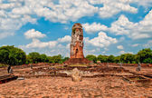 The Ruin of pagoda in ayutthaya historical park, Thailand — Stock Photo