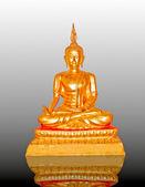 The Buddha status on reflect background — Stock Photo