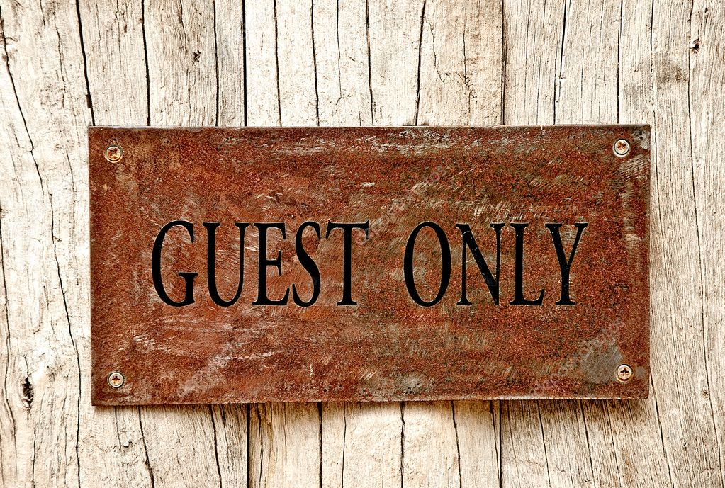 The Drilled text of guest only on iron sheet background — Stock Photo #10480586