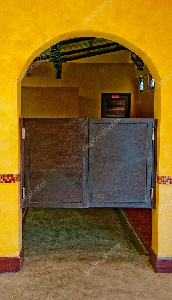 The Old wooden door saloon mexican style — Stock Photo #10480937