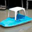 The Small pedal boat on river — Stock Photo